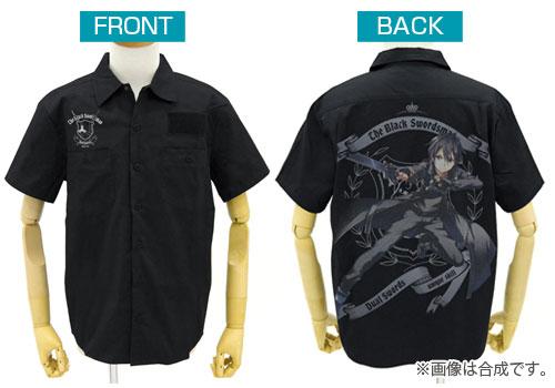 ソードアート・オンライン 黒の剣士キリト フルカラーワークシャツ/ブラック-M(再販)[コスパ]《01月予約》
