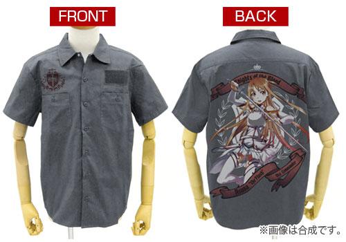 ソードアート・オンライン 閃光のアスナ フルカラーワークシャツ/グレー-XL