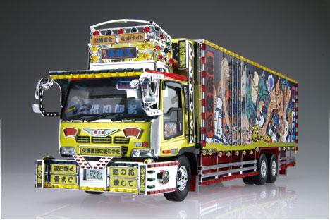 1/32 バリューデコトラ No.34 二代目髑髏丸(大型冷凍車) プラモデル[アオシマ]《取り寄せ※暫定》