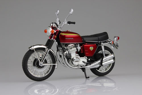 1/12 完成品バイク Honda CB750FOUR(K0) キャンディレッド(再販)[スカイネット]《在庫切れ》