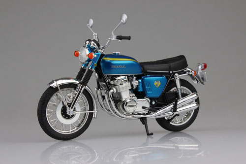 1/12 Complete Motorcycle Model Honda CB750FOUR (K0) Candy Blue(Pre-order)1/12 完成品バイク Honda CB750FOUR(K0) キャンディブルーAccessory
