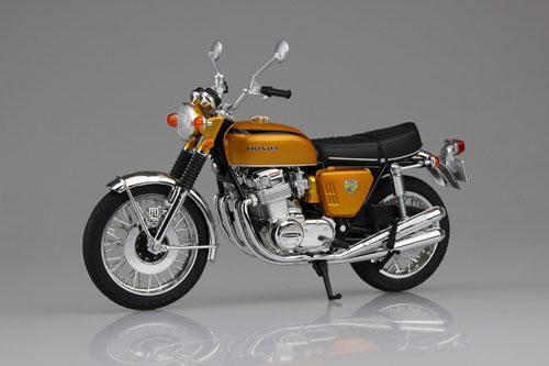 1/12 完成品バイク Honda CB750FOUR(K0) キャンディゴールド[スカイネット]《在庫切れ》