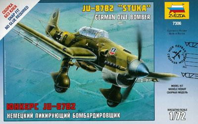 1/72 ユンカース JU-87 B2 スツーカ プラモデル[ズベズダ]《取り寄せ※暫定》