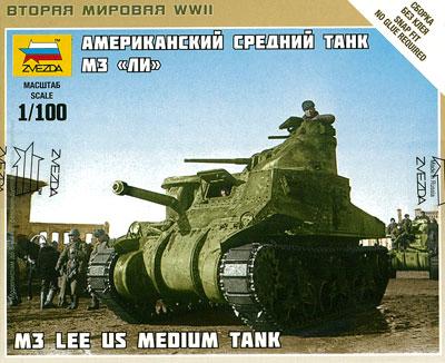 1/100 アメリカ中戦車 M3 リー プラモデル[ズベズダ]《取り寄せ※暫定》
