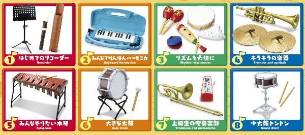 ぷちサンプルシリーズ みんなの音楽室 8個入りBOX(食玩)[リーメント]《在庫切れ》