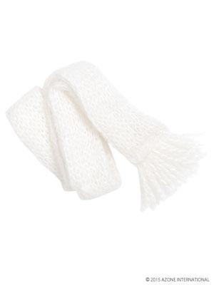 ピュアニーモサイズ PNS毛糸のマフラー ホワイト(ドール用衣装)[アゾン]《在庫切れ》