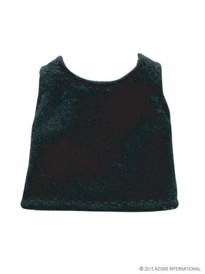 ピコニーモサイズ 1/12 ベーシックタンクトップ ブラック(ドール用衣装)[アゾン]《発売済・在庫品》