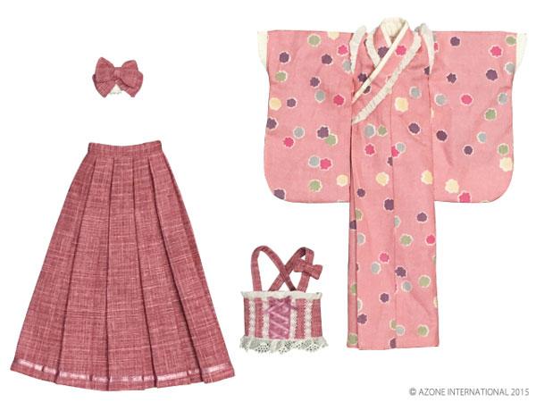 ピュアニーモサイズ PNMはいから着物・袴セット~こんぺいとう~ さくら(ドール用衣装)[アゾン]《発売済・在庫品》