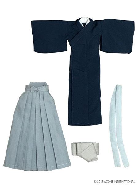 ピュアニーモサイズ PNXS男の子着物・袴セット~夕霞~ 藍色(ドール用衣装)[アゾン]《取り寄せ※暫定》