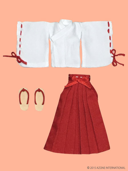 ピコニーモサイズ 1/12 ピコD巫女服セット 白×赤(ドール用衣装)[アゾン]《取り寄せ※暫定》