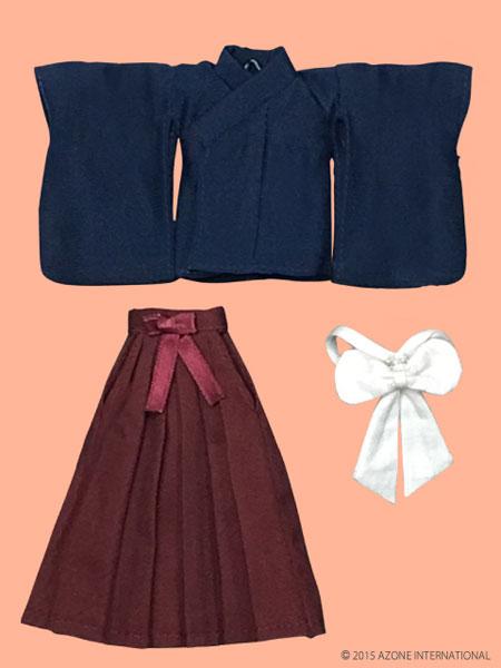 ピコニーモサイズ 1/12 ピコDたすき・袴セット 紺×エンジ(ドール用衣装)[アゾン]《在庫切れ》