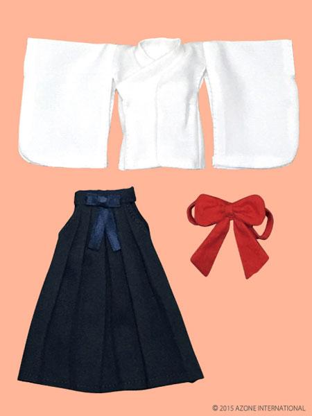 ピコニーモサイズ 1/12 ピコDたすき・袴セット 白×紺(ドール用衣装)[アゾン]《在庫切れ》