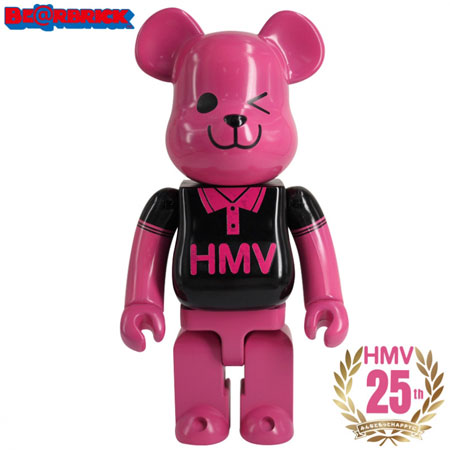 BE@RBRICK HMV BLACK POLO 400% 25th Anniverasry ver.[メディコム・トイ]【送料無料】《取り寄せ※暫定》