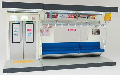 部品模型シリーズ 1/12 内装模型 通勤電車(青色シート)[トミーテック]【送料無料】《在庫切れ》