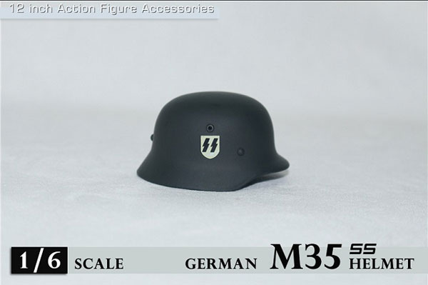 1/6 WWII M35 ヘルメット w/ ドイツ&SSロゴ (ZY-M35-SS)(ドール用衣装)[ZY-TOYS]《在庫切れ》