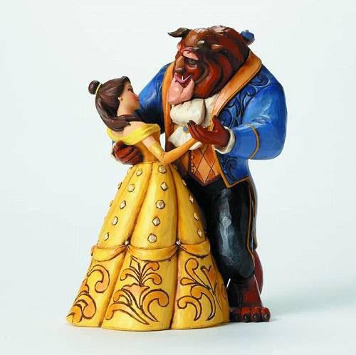 ディズニー・トラディションズ/ 美女と野獣: ビースト&ベル ダンス スタチュー[エネスコ]【送料無料】《在庫切れ》