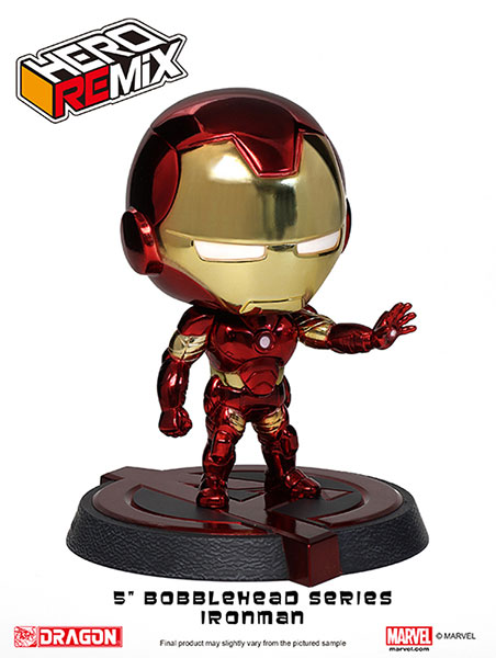Hero Remix Bobble Head Series - Avengers: Iron Man Mk.43 (Chrome Plating ver.) (Complete Figure)(Tentative Pre-order)ヒーローリミックス ボブルヘッドシリーズ アベンジャーズ アイアンマン Mk.43(クロムメッキver.)(完成品)Scale Figure