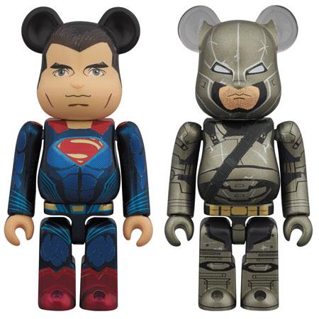 ベアブリック スーパーマン & アーマードバットマン 2パック[メディコム・トイ]【送料無料】《在庫切れ》