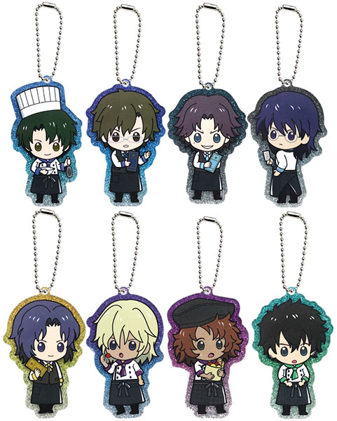 The New Prince of Tennis - Glittery Acrylic Charm Collection A 8Pack BOX(Pre-order)新テニスの王子様 ラメ入りアクリルチャームコレクションA 8個入りBOXAccessory