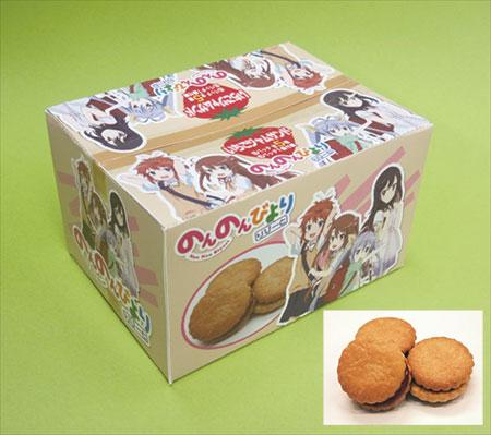 のんのんびより りぴーと いちごジャムサンド(缶バッチ1個入) 10個入りBOX[小林製菓]《在庫切れ》