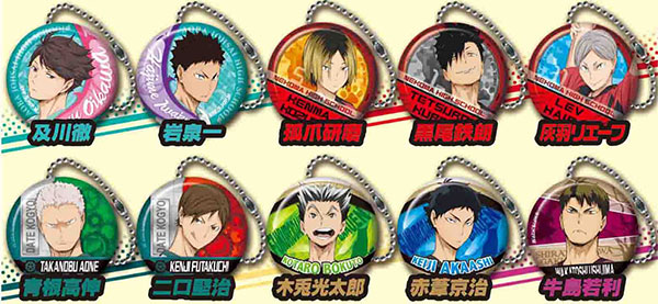 Haikyuu!! - Chara Badge Metal Charm Part.2 10Pack BOX (CANDY TOY)(Pre-order)ハイキュー!! キャラバッジメタルチャーム2 10個入りBOX(食玩)Accessory