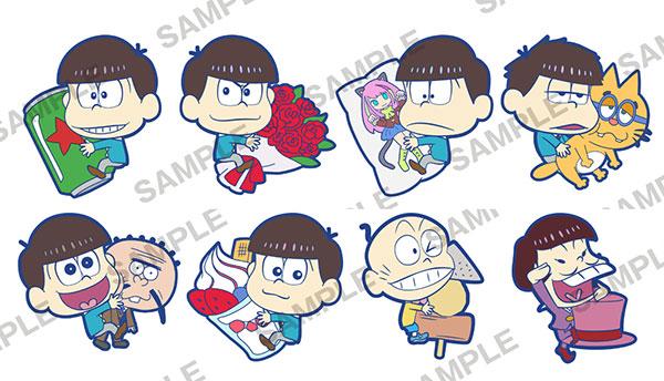 Osomatsu-san - PitaColle Rubber Strap 8Pack BOX(Pre-order)おそ松さん ぴたコレ ラバーストラップ 8個入りBOXAccessory