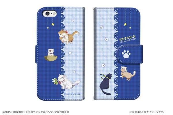 「ヘタリア The World Twinkle」ダイアリースマホケース for iPhone6/6s【03】ブルー[カナリア]《在庫切れ》