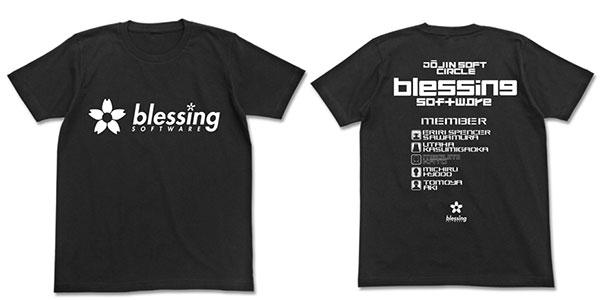 冴えない彼女の育てかた blessing software Tシャツ/ブラック-L(再販)[コスパ]《06月予約》