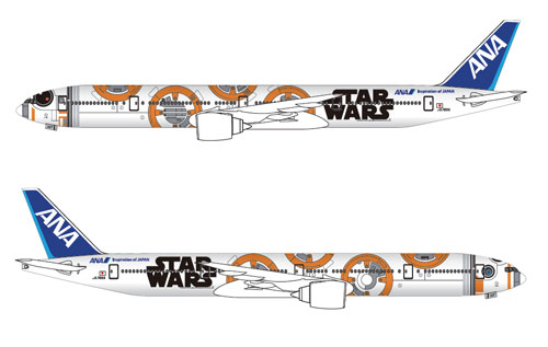 STAR WARS特別塗装機 1/200 B777-300ER JA784A BB-8 ANA JET(ギアつき)(再販)[全日空商事]《発売済・在庫品》