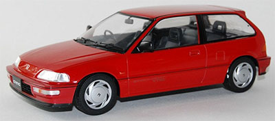 1/18 TRIPLE 9 COLLECTION Honda Civic EF-9 SiR 1990 Red[TRIPLE 9 COLLECTION]《02月仮予約》