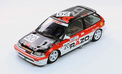 1/18 TRIPLE 9 COLLECTION Razo Trampio Civic EF3 1989 Macau GP #20(1st in Grp C)津津見友彦[TRIPLE 9 COLLECTION]《取り寄せ※暫定》