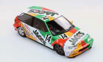 1/18 TRIPLE 9 COLLECTION JACCS Civic EF9 1992 Rd4. Suzuka #9(2nd in the Grp3)服部尚貴/金石勝智[TRIPLE 9 COLLECTION]《06月仮予約》