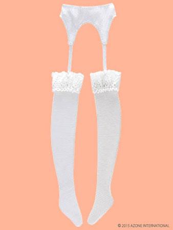 ピュアニーモサイズ PNMガーターストッキング ホワイト(ドール用衣装)[アゾン]《取り寄せ※暫定》