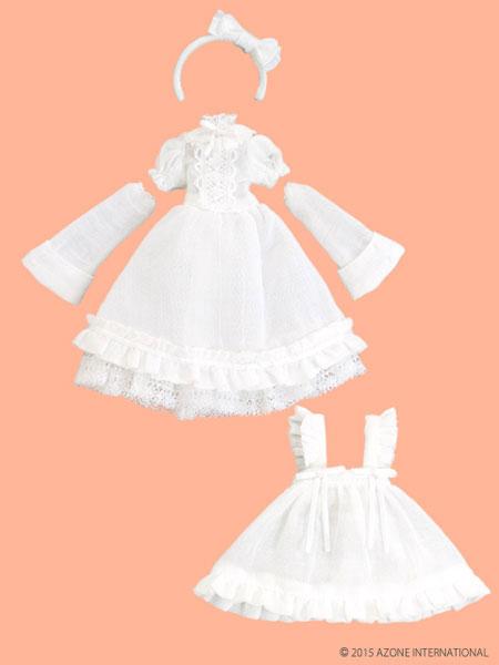 ピコニーモサイズ 1/12 ピコD ELLEN'S CLOSET アリスドレスセット ホワイト×ホワイト(ドール用衣装)[アゾン]《在庫切れ》