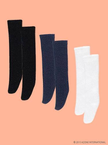 ピコニーモサイズ 1/12 ピコDハイソックスset ブラック、ネイビー、ホワイト(ドール用衣装)[アゾン]《発売済・在庫品》