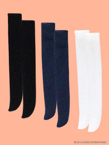 ピコニーモサイズ 1/12 ピコDニーハイソックスset ブラック、ネイビー、ホワイト(ドール用衣装)[アゾン]《発売済・在庫品》