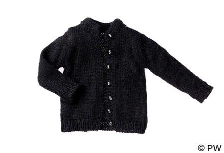 ラウンドネックカーディガン ブラック(ドール用衣装)[ペットワークス]《在庫切れ》