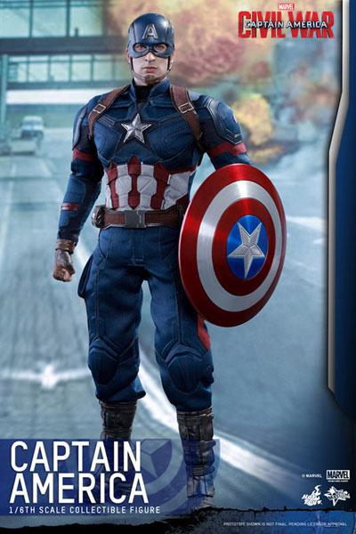 【ムービー・マスターピース】『シビル・ウォー/キャプテン・アメリカ』1/6 キャプテン・アメリカ[ホットトイズ]【送料無料】《09月仮予約》