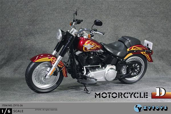 1/6 アメリカンバイク (ファイヤーパターン) (ZY15-26D)[ZY-TOYS]【送料無料】《在庫切れ》