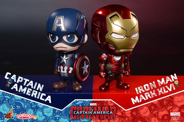 【コスベイビー】『シビル・ウォー』[サイズS] キャプテン・アメリカ&アイアンマン・マーク46(2体セット)[ホットトイズ]《在庫切れ》