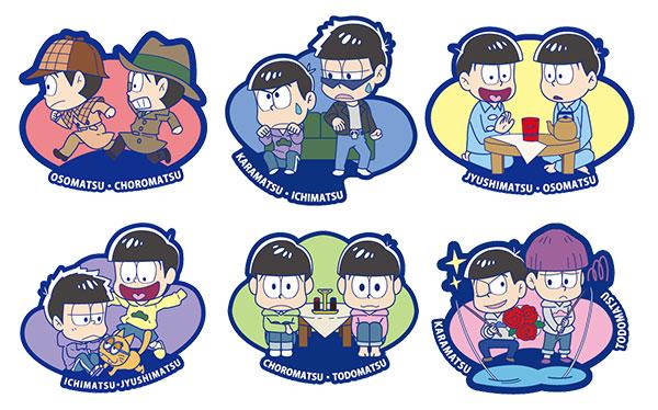 Rubber Mascot Buddy Colle - Osomatsu-san Onaji Kao demo, Mainichi Omoshiroi yona! Hen 6Pack BOX(Pre-order)ラバーマスコット バディコレ おそ松さん 同じ顔でも、毎日面白いよな!編 6個入りBOXAccessory