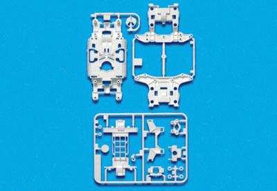 ミニ四駆特別企画 MS強化シャーシセット (ホワイト)(再販)[タミヤ]《在庫切れ》