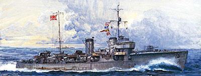 1/700 スカイウェーブシリーズ 日本海軍 峯風型駆逐艦 峯風 フルハルモデル プラモデル[ピットロード]《取り寄せ※暫定》