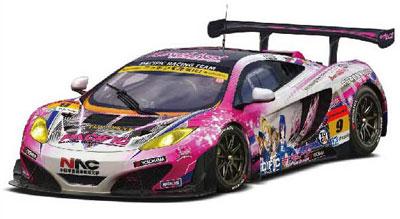 1/24スケール PACIFIC RACING×ラブライブ マクラーレン MP4-12C GT3 withμ's プラモデル[フジミ模型]《発売済・在庫品》