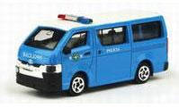 No.24 トヨタ ハイエース マカオ警察車両 ※リアハッチ開閉可能[TINY]《在庫切れ》