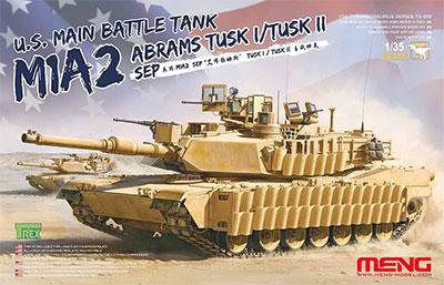 1/35 アメリカ主力戦車 M1A2 SEP TUSK I/TUSK II プラモデル[MENG Model]《取り寄せ※暫定》