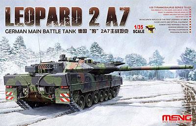 1/35 ドイツ主力戦車レオパルト2A7 プラモデル[MENG Model]《在庫切れ》