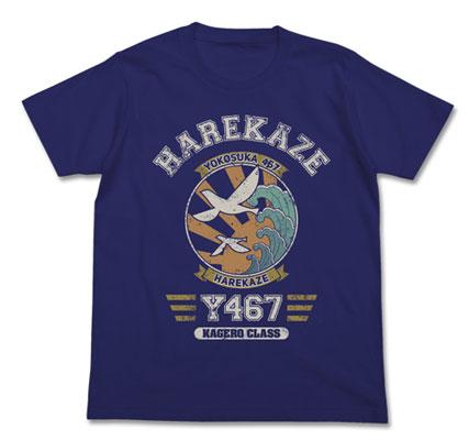 ハイスクール・フリート 晴風エンブレム Tシャツ/ナイトブルー-L