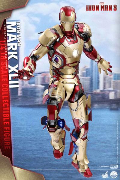 クオーター・スケール 『アイアンマン3』 1/4スケールフィギュア アイアンマン・マーク42[ホットトイズ]【送料無料】《在庫切れ》