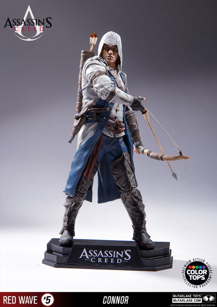 Color Tops Red Wave - Assassin's Creed III: Connor 7 Inch Action Figure(Provisional Pre-order)カラートップス レッドウェーブ/ アサシン クリードIII: コナー 7インチ アクションフィギュアScale Figure
